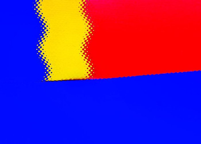 Modern Art Greeting Card featuring the photograph New Flag by Sal Ovadia