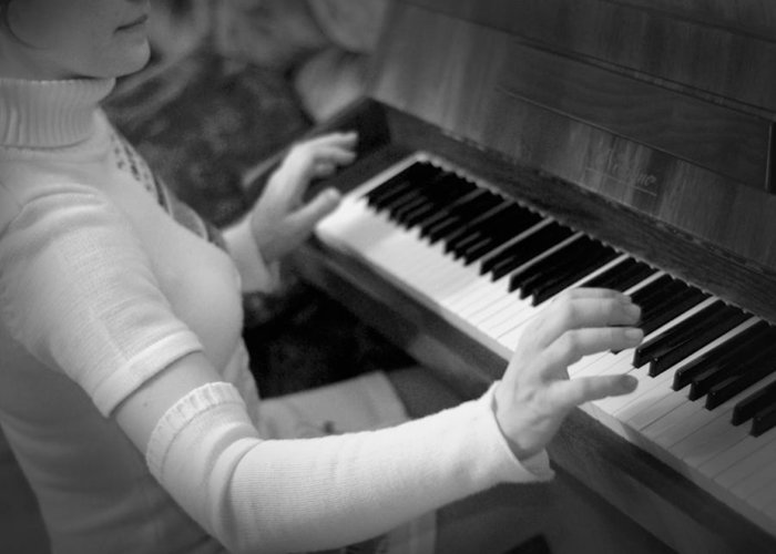 Piano Greeting Card featuring the photograph Piano by Alexey Mikhaylov