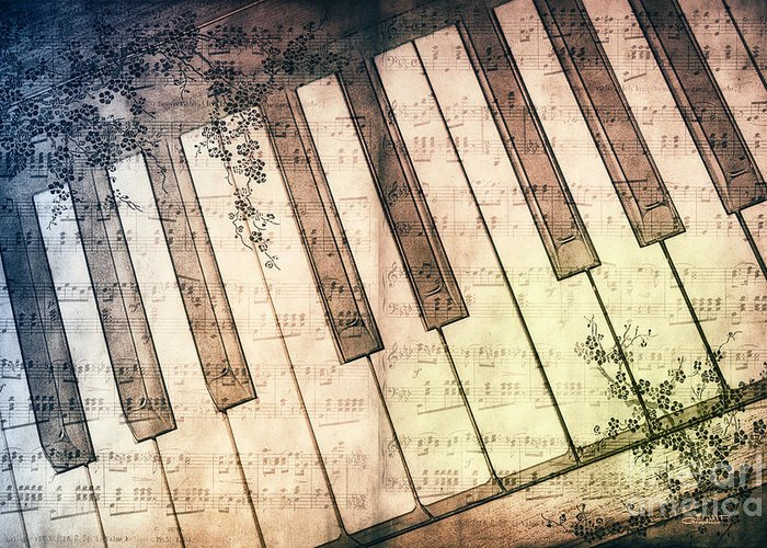 Photo Greeting Card featuring the photograph Piano Days by Jutta Maria Pusl