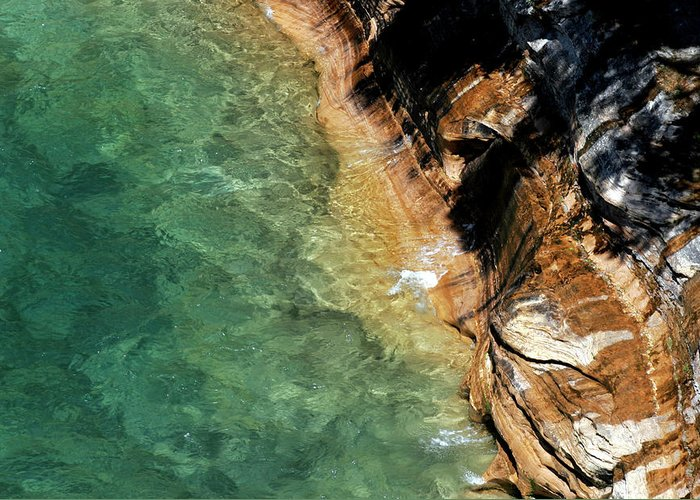 Pictured Rocks Greeting Card featuring the photograph Pictured Rocks by Kenneth Campbell