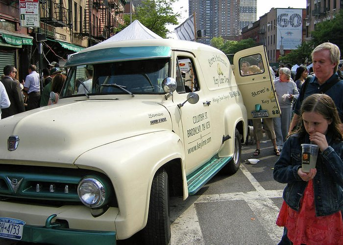 Trucks Greeting Card featuring the photograph Pie Truck At The Food Festival by Bernadette Claffey