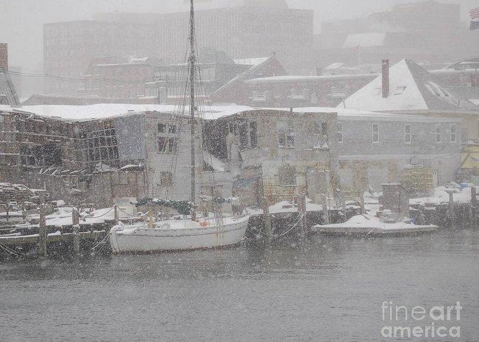 Sail Greeting Card featuring the photograph Pier In Disrepair by Faith Harron Boudreau