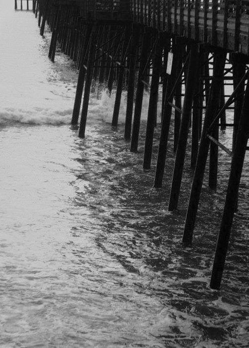 Pier Greeting Card featuring the photograph Pier Legs by Melody Glennon