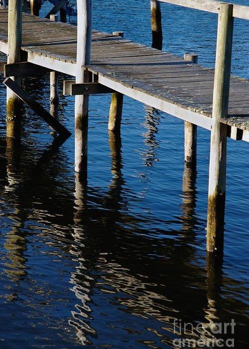 Pier Greeting Card featuring the photograph Pier Reflection by Hideaki Sakurai