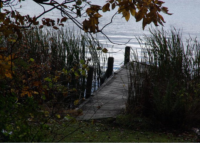 Water Greeting Card featuring the photograph Pier's End by Margaret Dahms