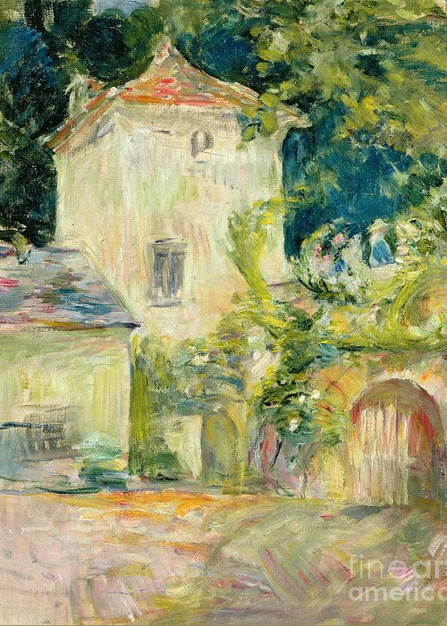 Pigeon Greeting Card featuring the painting Pigeon Loft At The Chateau Du Mesnil by Berthe Morisot