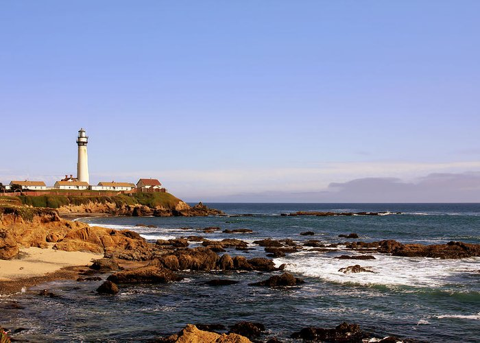 Pigeon Point Lighthouse Greeting Card featuring the photograph Pigeon Point Lighthouse Ca by Christine Till