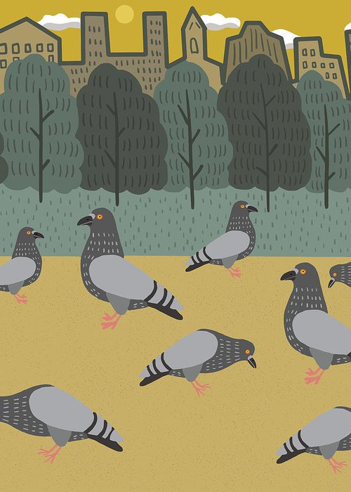 Pigeons Greeting Cards