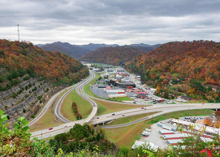 Fall Greeting Card featuring the photograph Pikeville Cut-through by Cris Ritchie