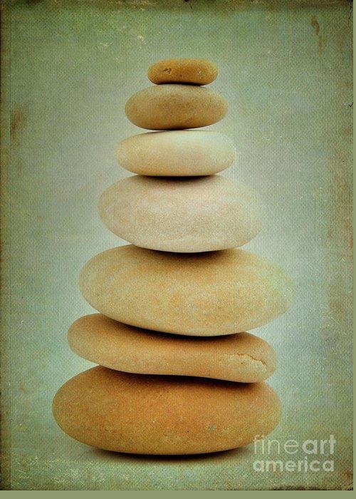 Stones Digital Art Greeting Cards