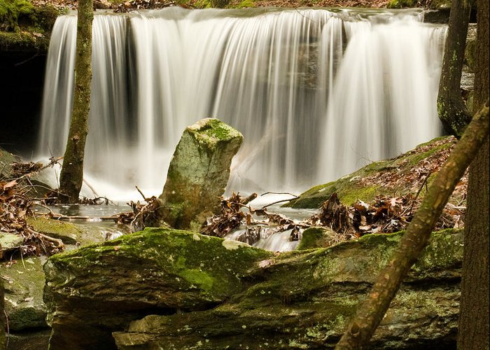 Waterfall Greeting Card featuring the photograph Pillar And Waterfall by Douglas Barnett
