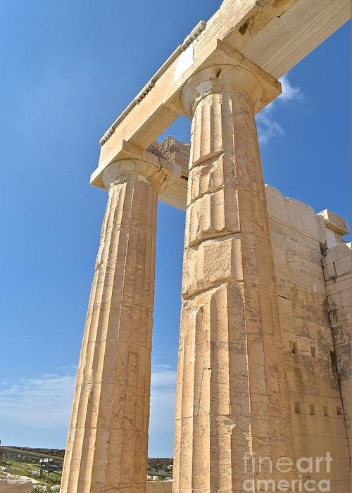 Stone Greeting Card featuring the photograph Pillars Of The Parthenon by Eric Reger