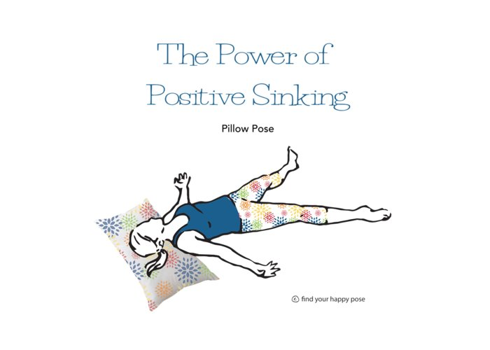 Yoga Art Greeting Card featuring the digital art Pillow Pose by Patti And Lori