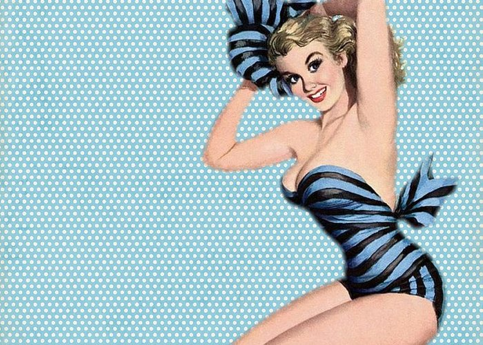 Pin Up Greeting Cards