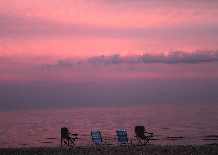Coastal Greeting Card featuring the photograph Pink And Deserted by Karol Livote