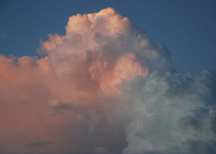 Clouds Greeting Card featuring the photograph Pink And Grey by Rob Hans