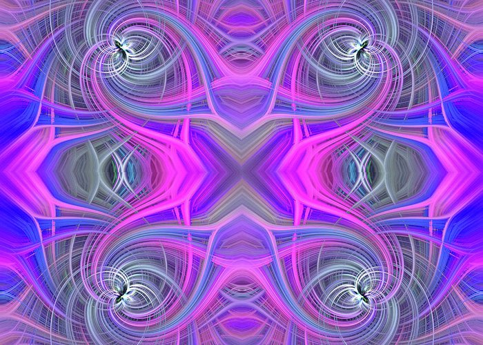 Abstract Greeting Card featuring the photograph Pink And Purple by Brenda Spittle
