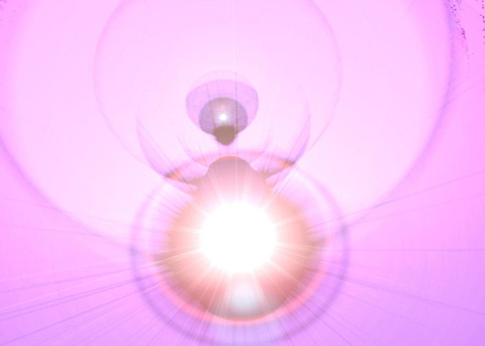 Andel Greeting Card featuring the digital art Pink Angel-light by Ramon Labusch