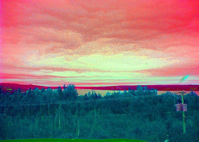 Skys Greeting Card featuring the photograph Pink Clouds by Allison Prior