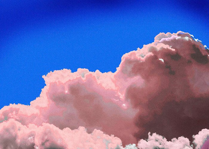 Cloud Greeting Card featuring the photograph Pink Cluod by John Toxey