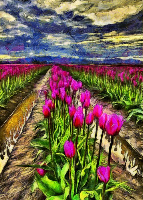 Impressions Of Tulips Greeting Cards