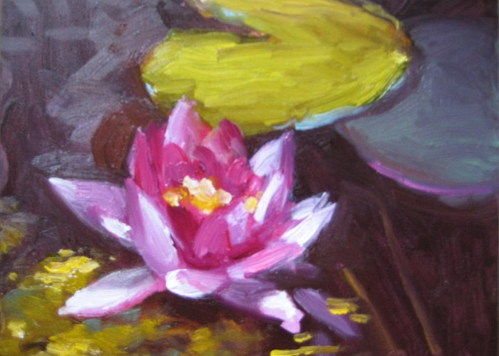 Lily Greeting Card featuring the painting Pink Lily by Susan Jenkins