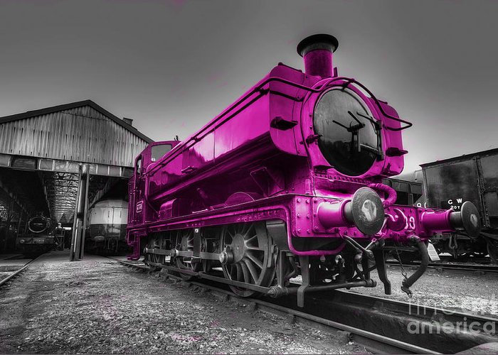 Steam Greeting Card featuring the photograph Pink Pannier by Rob Hawkins