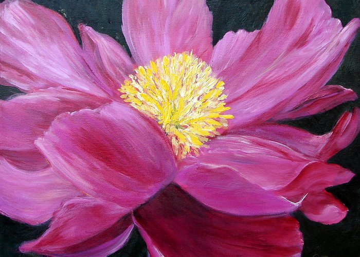 Pink Greeting Card featuring the painting Pink Passion by Cynthia Blair