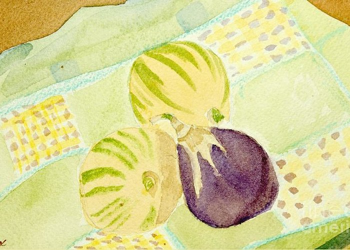 Lemons Greeting Card featuring the painting Pink Passion Lemonade by Charlotte Hickcox