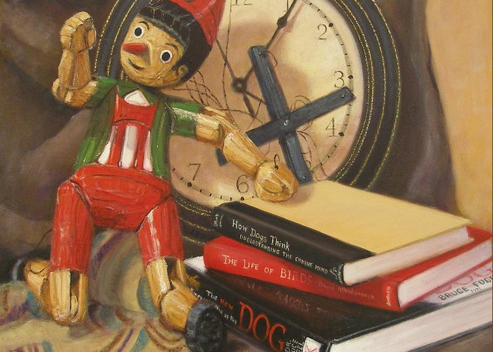 Realism Greeting Card featuring the painting Pinocchio by Donelli DiMaria
