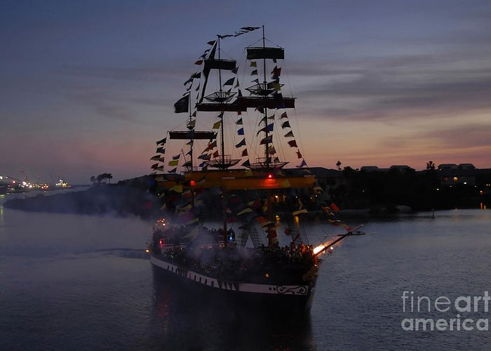 Pirates Greeting Card featuring the photograph Pirate Invasion by David Lee Thompson