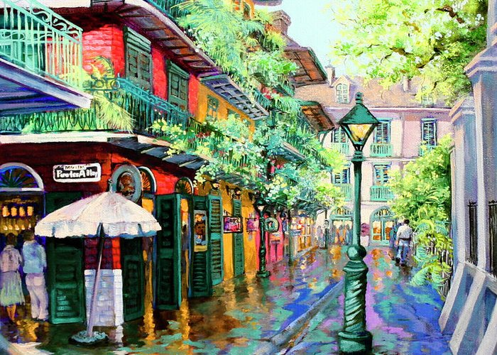 French Quarter Paintings Greeting Cards