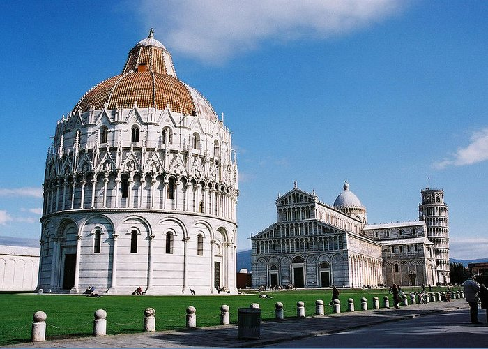 Italy Greeting Card featuring the photograph Pisa by Kathy Schumann