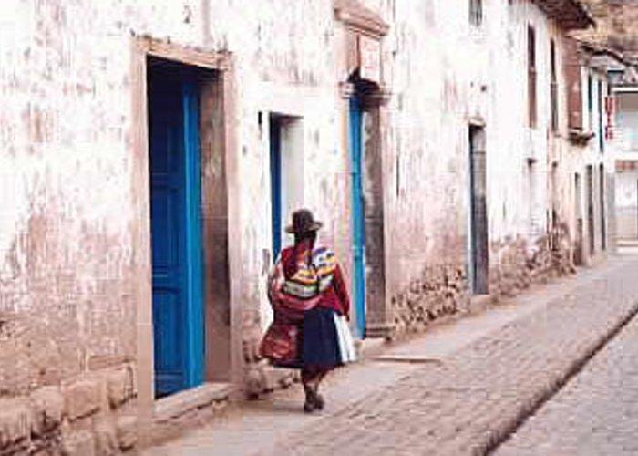 Peru Greeting Card featuring the photograph Pisaq Woman by Kathy Schumann