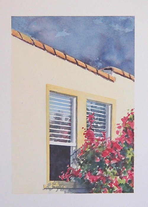 Cottage Greeting Card featuring the painting Pismo Cottage by Philip Fleischer