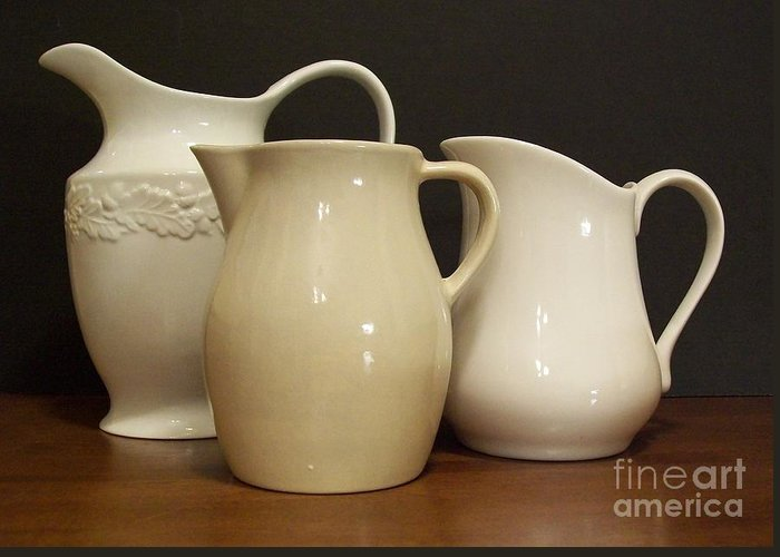 Kitchen Greeting Card featuring the photograph Pitcher Collection by Marsha Heiken