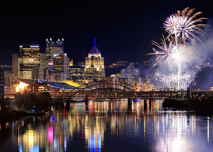 Steelers Greeting Card featuring the photograph Pittsburgh 1 by Emmanuel Panagiotakis