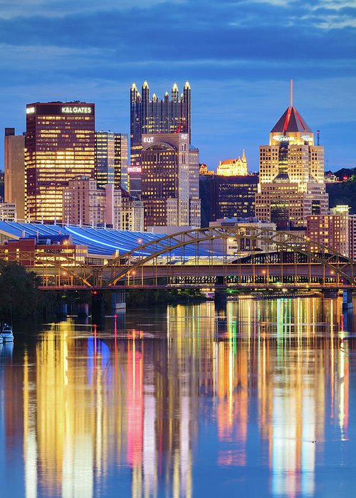 Steelers Greeting Card featuring the photograph Pittsburgh 2 by Emmanuel Panagiotakis