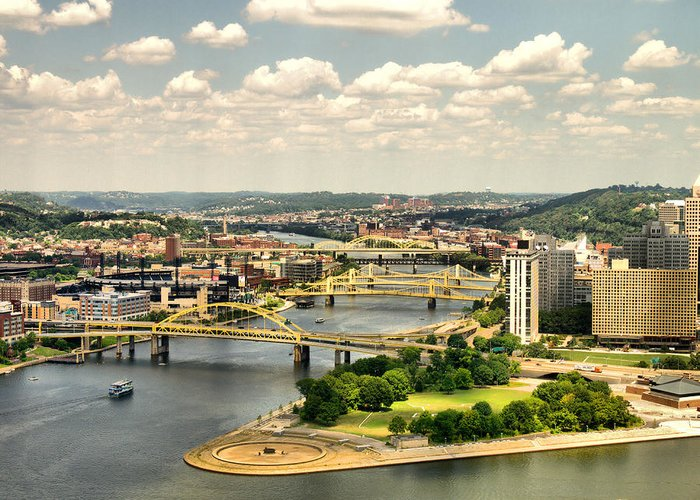 Hdr Greeting Card featuring the photograph Pittsburgh Hdr by Arthur Herold Jr
