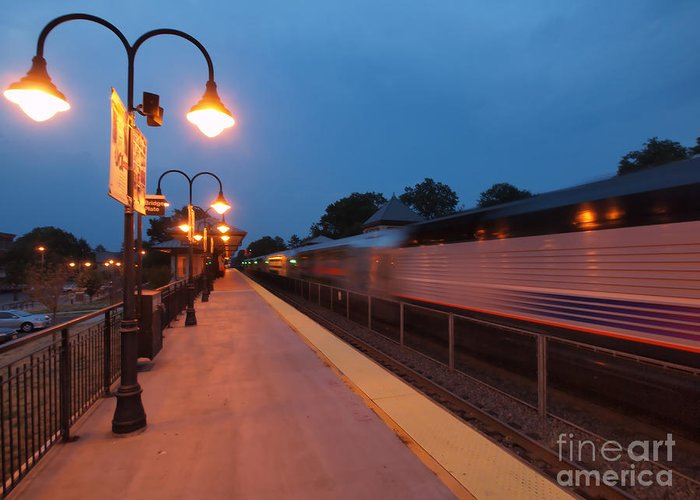 Train Greeting Card featuring the photograph Plainfield Train Station by Valerie Morrison