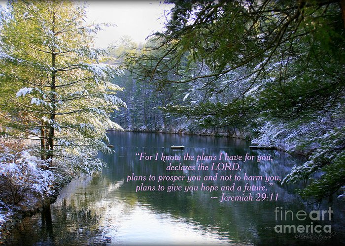 Landscape Greeting Card featuring the photograph Plans Of Hope by Debra Straub