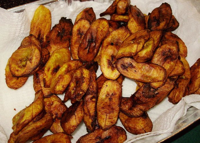 Food Greeting Card featuring the photograph Plantains For The Rehearsal by Emerald GreenForest