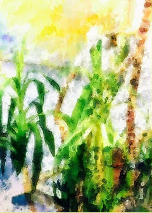 Abstract Greeting Card featuring the photograph Plants by Rita Koivunen