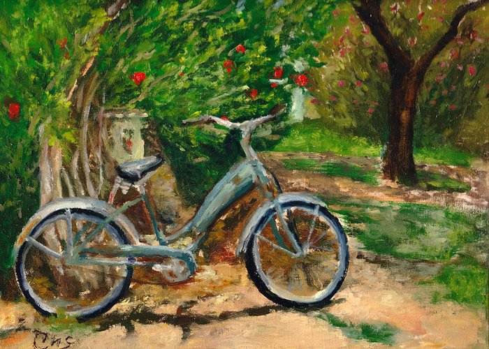 Plein Air Greeting Card featuring the painting Plien air afternoon by Chris Neil Smith