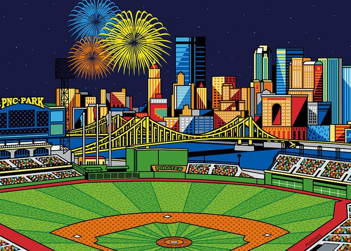 Pnc Park Greeting Cards