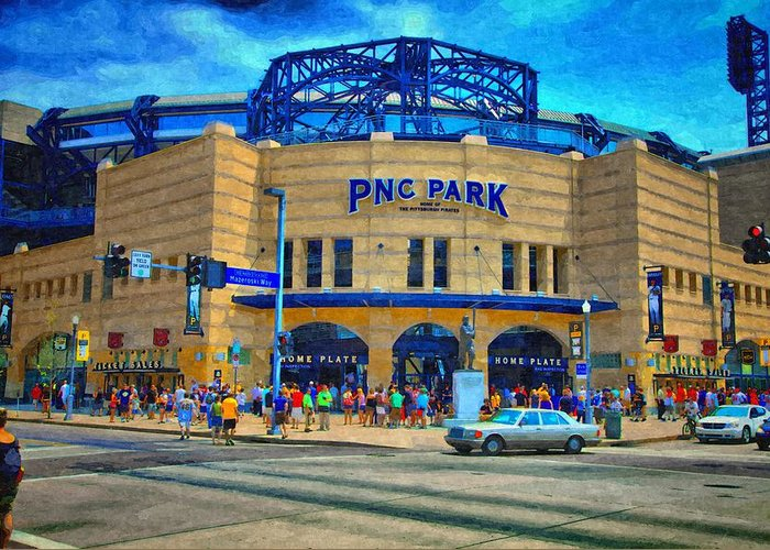 Greeting Card featuring the photograph Pnc Park by Matt Matthews