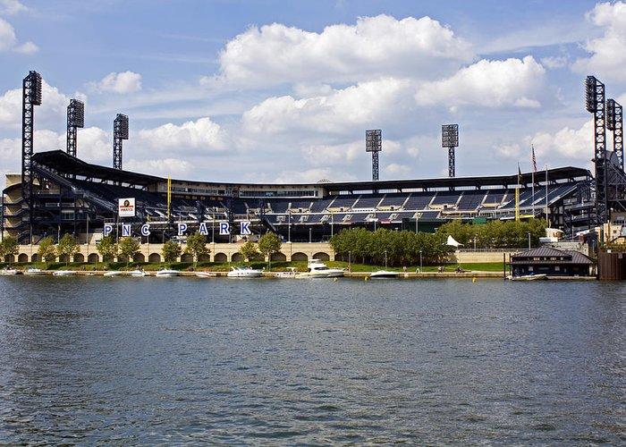 Pittsburgh Greeting Card featuring the photograph Pnc Park Pittsburgh Pa by Kristen Vota