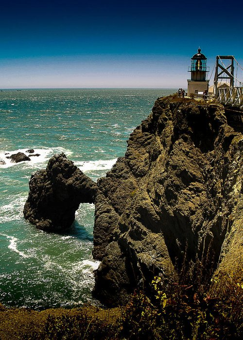 California Greeting Card featuring the photograph Point Bonita by Cyril Matthews