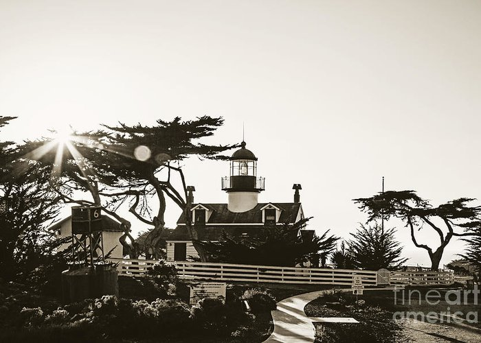 Point Pinos Lighthouse Greeting Card featuring the photograph Point Pinos Lighthouse by Scott Pellegrin