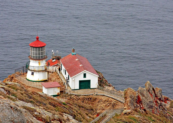 Point Reyes Lighthouse Greeting Card featuring the photograph Point Reyes Lighthouse Ca by Christine Till